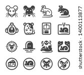 rat icon set animal and pest... | Shutterstock .eps vector #1400113877