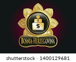 shiny badge with man working... | Shutterstock .eps vector #1400129681