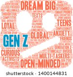 gen z word cloud on a white... | Shutterstock .eps vector #1400144831