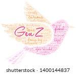 gen z word cloud on a white... | Shutterstock .eps vector #1400144837