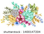 summer and spring romantic... | Shutterstock . vector #1400147204