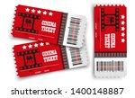 vector cinema tickets isolated... | Shutterstock .eps vector #1400148887