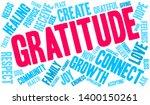 gratitude word cloud on a white ... | Shutterstock .eps vector #1400150261