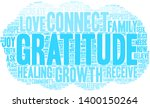 gratitude word cloud on a white ... | Shutterstock .eps vector #1400150264