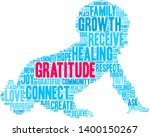gratitude word cloud on a white ... | Shutterstock .eps vector #1400150267