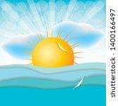 beautiful summer background... | Shutterstock .eps vector #1400166497