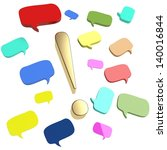 colorful speech bubbles and... | Shutterstock . vector #140016844