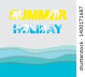 beautiful summer background... | Shutterstock .eps vector #1400171687