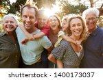 outdoor portrait of multi... | Shutterstock . vector #1400173037