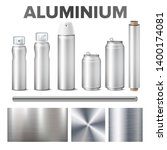 aluminium and product made from ... | Shutterstock .eps vector #1400174081