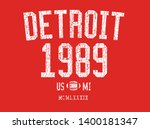 american football retro style... | Shutterstock .eps vector #1400181347