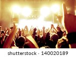 rock concert  silhouettes of... | Shutterstock . vector #140020189