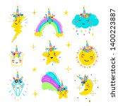 magic unicorn little cute... | Shutterstock .eps vector #1400223887