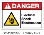 danger electrical shock... | Shutterstock .eps vector #1400225171