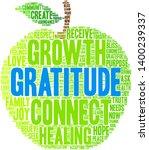 gratitude word cloud on a white ... | Shutterstock .eps vector #1400239337