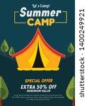 kids summer camp education... | Shutterstock .eps vector #1400249921