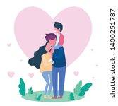family spending time together... | Shutterstock .eps vector #1400251787