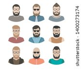 male character faces avatars.... | Shutterstock .eps vector #1400273174