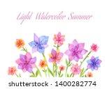 light watercolor flowers.... | Shutterstock . vector #1400282774