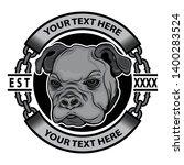 dog clothes brand logo  vector... | Shutterstock .eps vector #1400283524