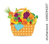 fruits and vegetables basket... | Shutterstock .eps vector #1400294357