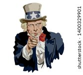 portrait of uncle sam ... | Shutterstock .eps vector #1400329901
