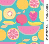 seamless pattern with fruit... | Shutterstock .eps vector #1400330081