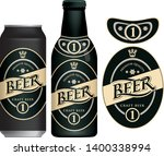 vector label for craft beer in... | Shutterstock .eps vector #1400338994