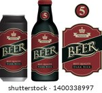 vector label for dark beer in... | Shutterstock .eps vector #1400338997