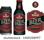 vector label for dark beer in...   Shutterstock .eps vector #1400338997