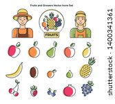 collection of fruits icons ... | Shutterstock .eps vector #1400341361