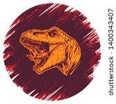 cool aggressive dinosaur... | Shutterstock .eps vector #1400343407