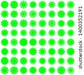 green flowers   pseuzdo... | Shutterstock .eps vector #1400352191