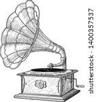 Gramophone Illustration ...