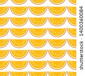 orange fruit vector seamless... | Shutterstock .eps vector #1400360084