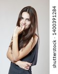 fashion model. young woman...   Shutterstock . vector #1400391284