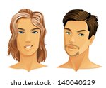 two handsome men with different ... | Shutterstock .eps vector #140040229