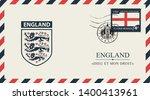 vector postcard or envelope... | Shutterstock .eps vector #1400413961
