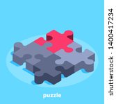 isometric vector image on a... | Shutterstock .eps vector #1400417234