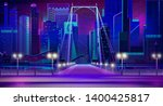 night city with neon lights ... | Shutterstock .eps vector #1400425817