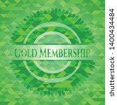 gold membership green emblem... | Shutterstock .eps vector #1400434484