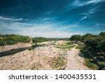 nimes  france. old house near... | Shutterstock . vector #1400435531