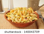 A Macaroni Salad With Carrots...