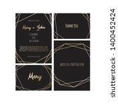 wedding invitation  invite card ...   Shutterstock .eps vector #1400452424