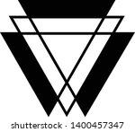 linked triangles. abstract... | Shutterstock .eps vector #1400457347