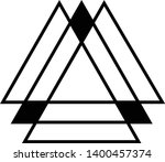 linked triangles. abstract... | Shutterstock .eps vector #1400457374