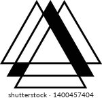 linked triangles. abstract... | Shutterstock .eps vector #1400457404