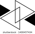 linked triangles. abstract... | Shutterstock .eps vector #1400457434