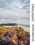 view of torrey pines road and... | Shutterstock . vector #1400476061