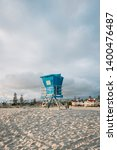 lifeguard stand on the beach in ... | Shutterstock . vector #1400476487